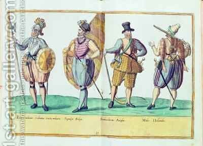 Sixteenth century costumes from 'Omnium Poene Gentium Imagines' by Abraham de Bruyn - Reproduction Oil Painting