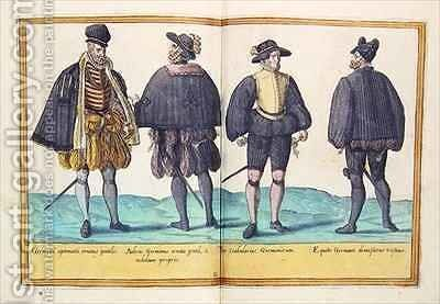 Sixteenth century costumes from 'Omnium Poene Gentium Imagines' 20 by Abraham de Bruyn - Reproduction Oil Painting