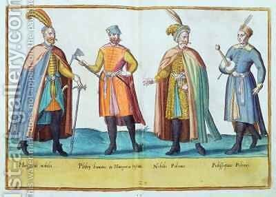 Sixteenth century costumes from 'Omnium Poene Gentium Imagines' 25 by Abraham de Bruyn - Reproduction Oil Painting