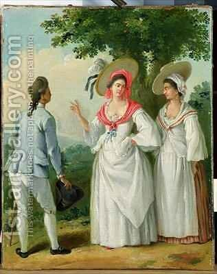 Free West Indian Creoles in Elegant Dress 2 by Agostino Brunias - Reproduction Oil Painting