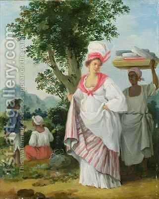 Free West Indian Dominicans by Agostino Brunias - Reproduction Oil Painting