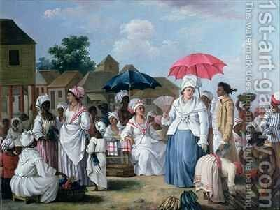 The Linen Market, Santo Domingo by Agostino Brunias - Reproduction Oil Painting