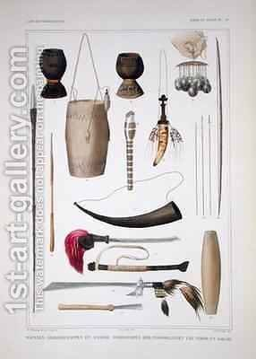 Weapons and ritual objects from Timor by (after) Bruining, T.C. - Reproduction Oil Painting