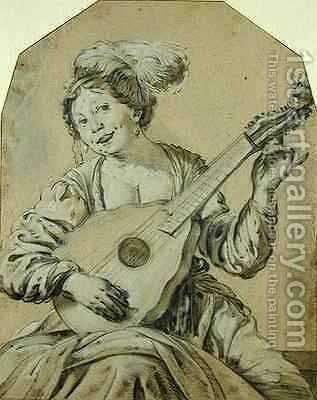 The Lute-Player by Hendrick Ter Brugghen - Reproduction Oil Painting