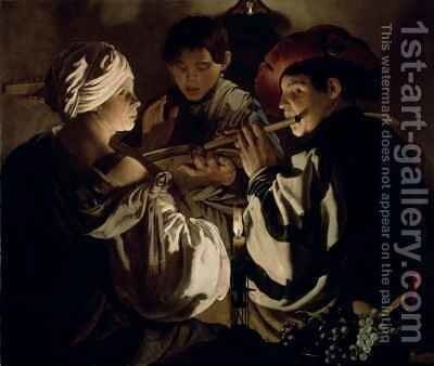 Concert by Hendrick Ter Brugghen - Reproduction Oil Painting