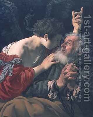 The Liberation of St. Peter by Hendrick Ter Brugghen - Reproduction Oil Painting