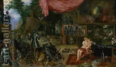 The Sense of Touch by Jan & Rubens, P.P. Brueghel - Reproduction Oil Painting