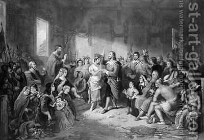 The Marriage of Pocahontas by (after) Brueckner, Henry - Reproduction Oil Painting