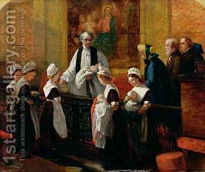 The Christening by Emma Brownlow - Reproduction Oil Painting