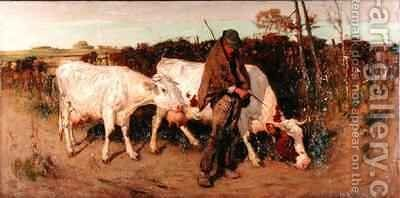Returning from Pasture by Thomas Austen Brown - Reproduction Oil Painting