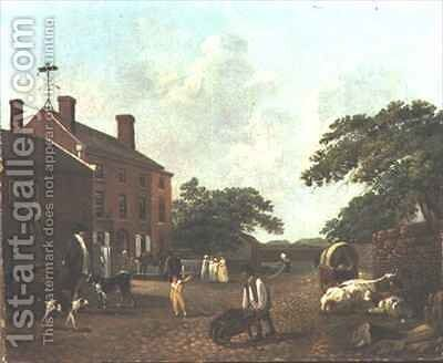 View of Walton College by David Brown - Reproduction Oil Painting