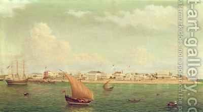 Zanzibar Harbour by Charles Porter Brown - Reproduction Oil Painting