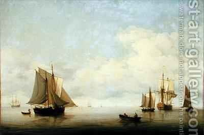 Seascape with Shipping by Charles Brooking - Reproduction Oil Painting