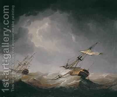 Dismasted by Charles Brooking - Reproduction Oil Painting
