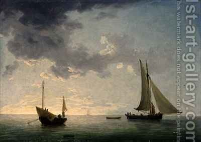 A Lugger and a Smack in Light Airs by Charles Brooking - Reproduction Oil Painting