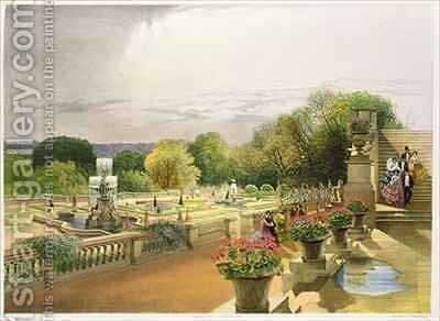 The Parterre, Harewood House near Leeds by E. Adveno Brooke - Reproduction Oil Painting