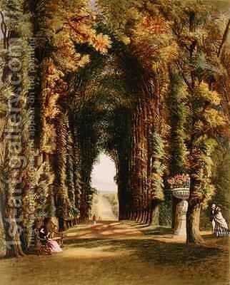 'Vista' in the Gardens at Teddesley by E. Adveno Brooke - Reproduction Oil Painting