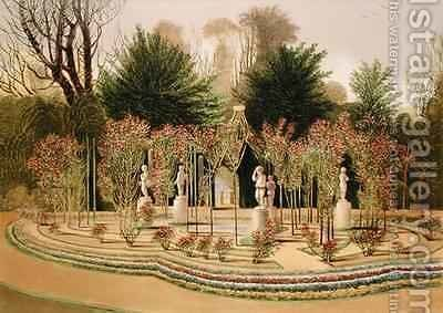 The Rose Garden at Nuneham Courtney, Near Oxford by E. Adveno Brooke - Reproduction Oil Painting