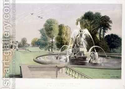 St. George and the Dragon Fountain, Holkham by E. Adveno Brooke - Reproduction Oil Painting