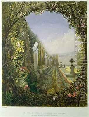 The Trellis Window, Trentham Hall Gardens by E. Adveno Brooke - Reproduction Oil Painting