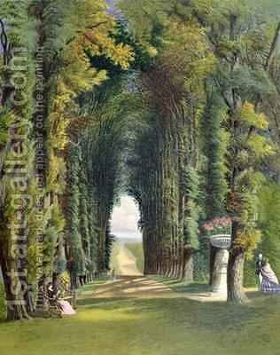 Vista in the Gardens of Teddesley by E. Adveno Brooke - Reproduction Oil Painting