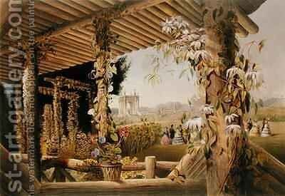 View from the Rustic Seat, Shrublands by E. Adveno Brooke - Reproduction Oil Painting
