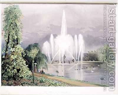 The River Horse Fountain, Enville by E. Adveno Brooke - Reproduction Oil Painting
