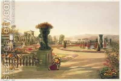 The Parterre, Trentham Hall Gardens by E. Adveno Brooke - Reproduction Oil Painting