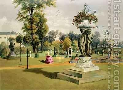 The Terrace Garden, Woburn Abbey by E. Adveno Brooke - Reproduction Oil Painting
