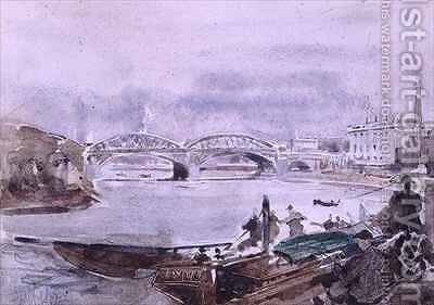 The Oxford and Cambridge Boat Race by H.T. Brook-Wig - Reproduction Oil Painting