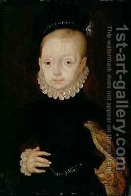 James VI of Scotland and I of England as a boy by Arnold Bronckorst - Reproduction Oil Painting