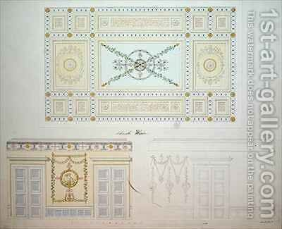 Decorative Designs for the Interior of the Beberbeck Palace by (after) Bromeis, Johann Conrad - Reproduction Oil Painting