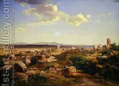 The Temple Ruins at Selinunte by August Bromeis - Reproduction Oil Painting