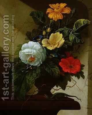 Still Life with flowers by Elias van den Broeck - Reproduction Oil Painting