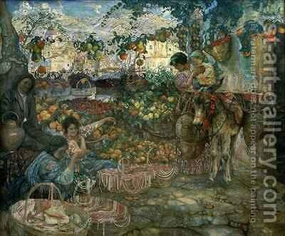 Italy by Isaak Israilevich Brodsky - Reproduction Oil Painting