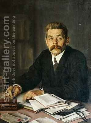 Portrait of the Author Maxim Gorky (1868-1939) by Isaak Israilevich Brodsky - Reproduction Oil Painting