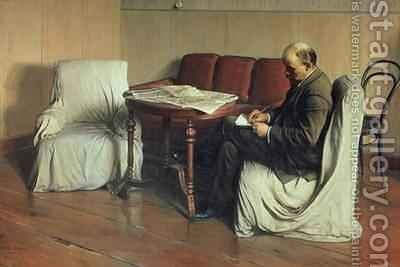 Vladimir Lenin (1870-1924) at Smolny by Isaak Israilevich Brodsky - Reproduction Oil Painting