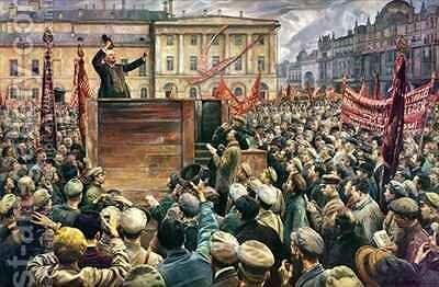 Vladimir Ilyich Lenin (1870-1924) Addressing the Red Army of Workers on 5th May 1920 by Isaak Israilevich Brodsky - Reproduction Oil Painting