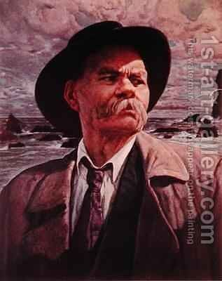 Maxim Gorky by Isaak Israilevich Brodsky - Reproduction Oil Painting