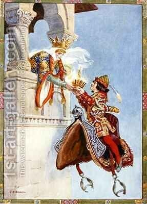 She saw that crown and begged of him to give it her by Charles Edmund Brock - Reproduction Oil Painting