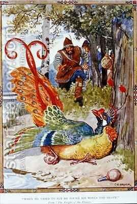 When he tried to fly he found his wings too heavy by Charles Edmund Brock - Reproduction Oil Painting