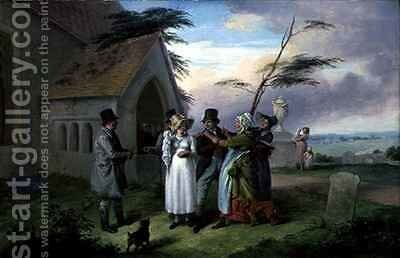 The Interrupted Wedding by Edmund Bristow - Reproduction Oil Painting