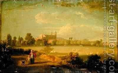 View of Eton From The Playing Fields by Edmund Bristow - Reproduction Oil Painting