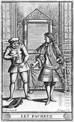 Frontispiece illustration from 'Les Facheux' by Moliere by (after) Brissart, Pierre - Reproduction Oil Painting