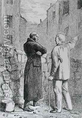 Jean Valjean Gets his Revenge by (after) Brion, Gustave - Reproduction Oil Painting