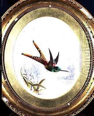 Sappho Cornel, hummingbird by Harry Bright - Reproduction Oil Painting