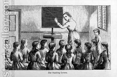 The Marking Lesson by (after) Brietzcke, Helen K. - Reproduction Oil Painting
