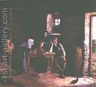 Letter from America by James Brennan - Reproduction Oil Painting