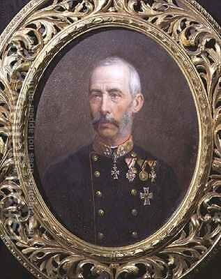 Portrait of Archduke Wilhelm of Austria (1827-94) by Theodor Breidwiser or Breitwieser - Reproduction Oil Painting