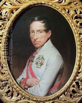 Portrait of General Archduke Karl of Austria (1771-1847) after Anton Einsle (1801-71) by Theodor Breidwiser or Breitwieser - Reproduction Oil Painting